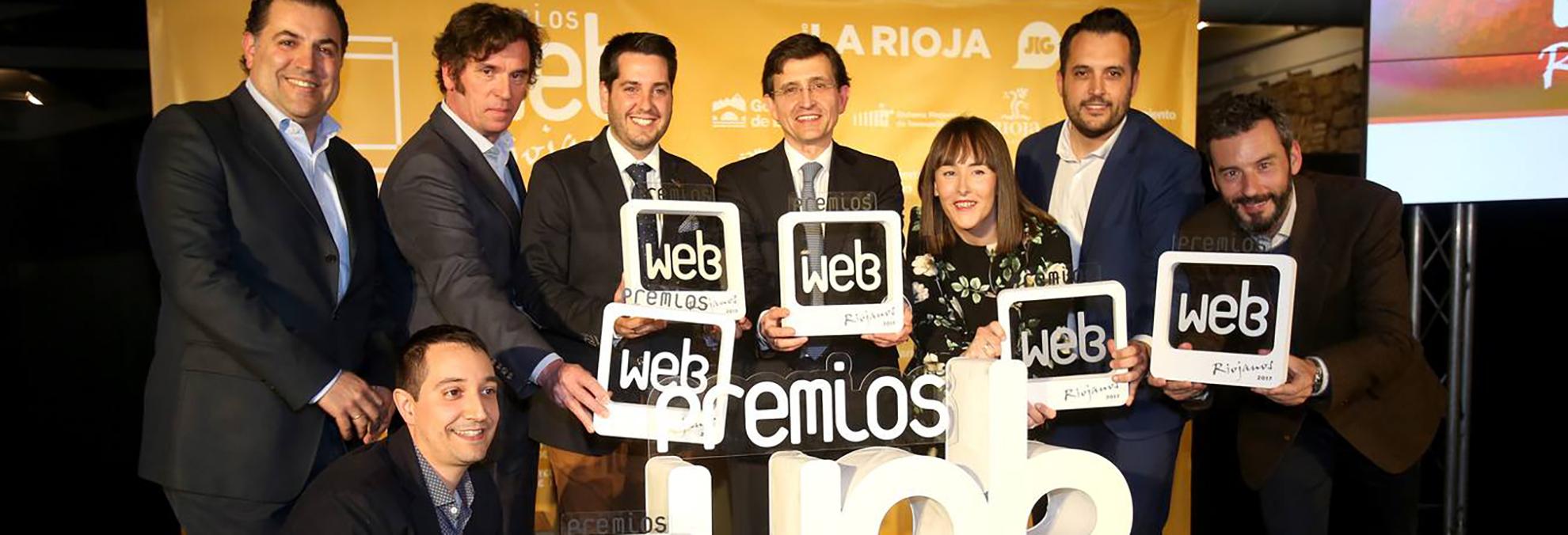 Foto de los ganadores de los Premios Web Riojanos 2017