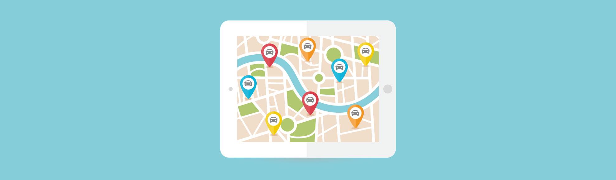 Distribución geográfica de las distintas concesiones de un grupo de automoción