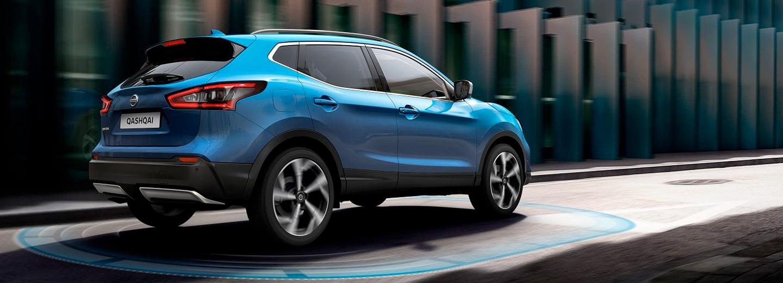 Exterior del Nissan Qashqai (color azul)