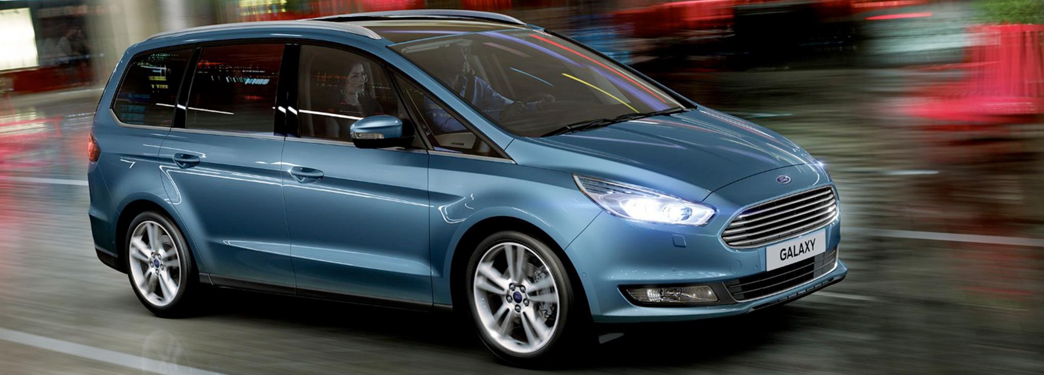 Exterior Ford Galaxy azul