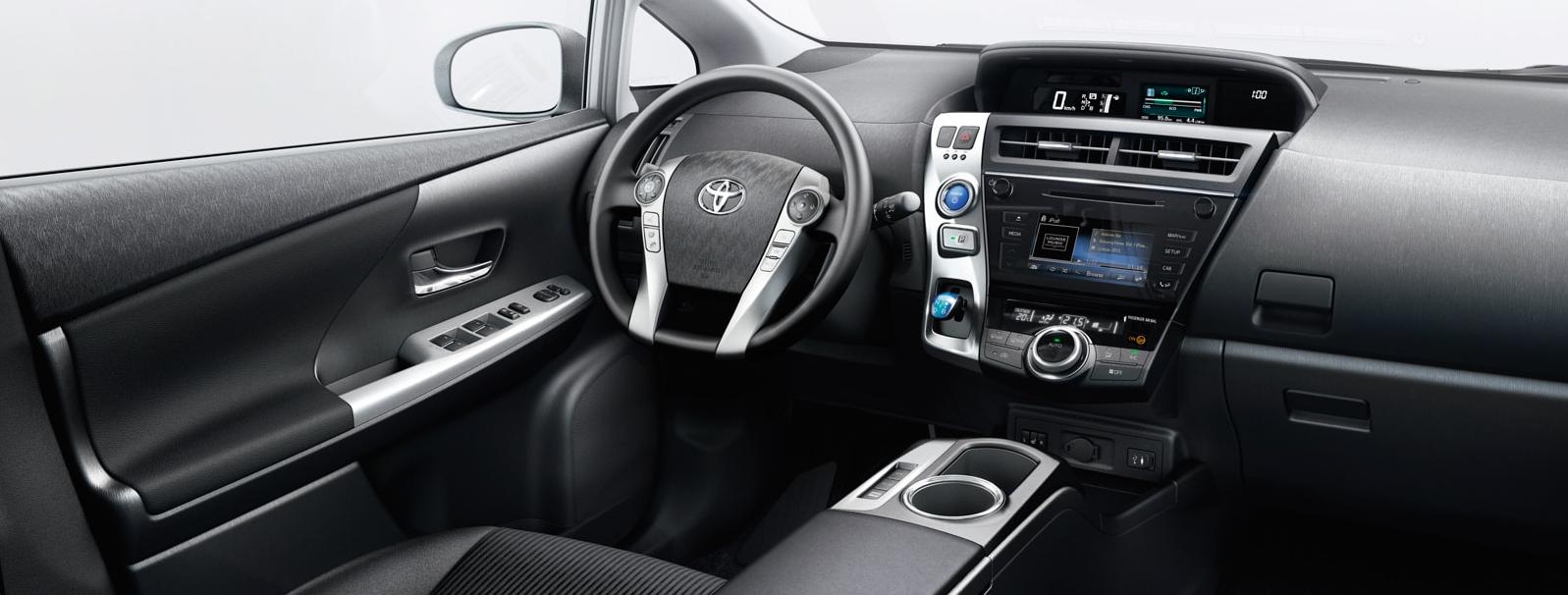Interior del Toyota Prius+