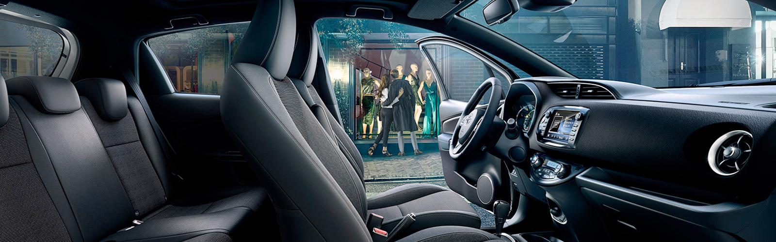 Interior del Toyota Yaris