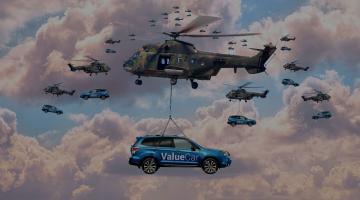 Nueva tecnología de drones para la entrega de coches nuevos