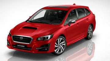 Subaru levorg rojo