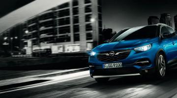 Opel Grandland X azul lateral