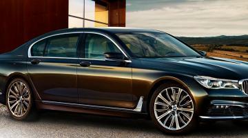 BMW serie 7 negro