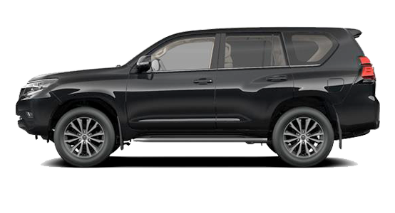 Toyota Land Cruiser negro