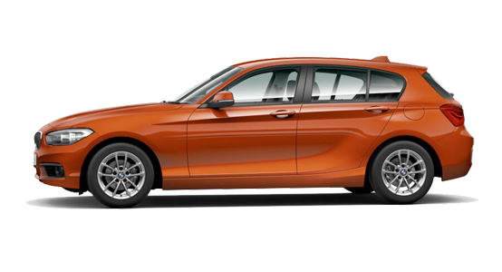 BMW Serie 1 cinco puertas sunset-orange